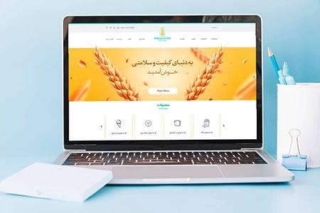 طراحی سایت شرکت زرین خوشه
